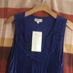 Tops - Women's blouse-Navy blue color